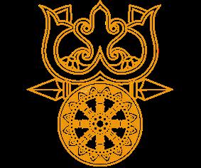The Triratna (Pali: tiratna) represent the Three Jewels  of Buddhism