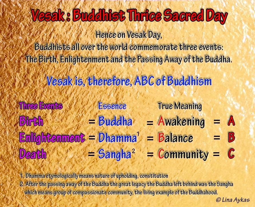 3 VESAK;BUDDHIST TRICE SACRED DAY
